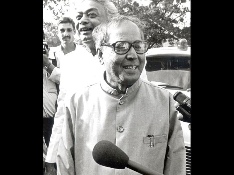 UPA's Presidential candidate Pranab Mukherjee is seen in this file photo. (HT Photo)