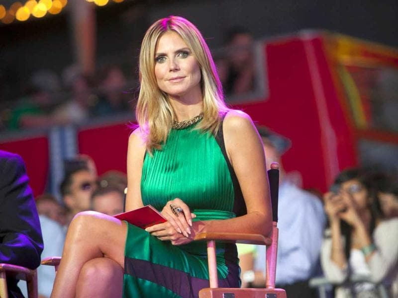 Model Heidi Klum attends the Project Runway 10th Anniversary Outdoor Runway Event at Times Square in New York. Reuters/Andrew Kelly