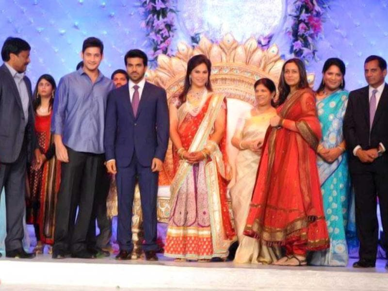 Rajinikanth, Amitabh Bachchan, Prabhudeva, Rana Daggubati, Prince Mahesh Babu and his wife Namrata, Allu Arjun and his wife Sneha Reddy, Nagarjuna and his wife Amala, Kajal Agrawal, Tabu, Prabhu Deva and others were spotted at the star-stuuded event.