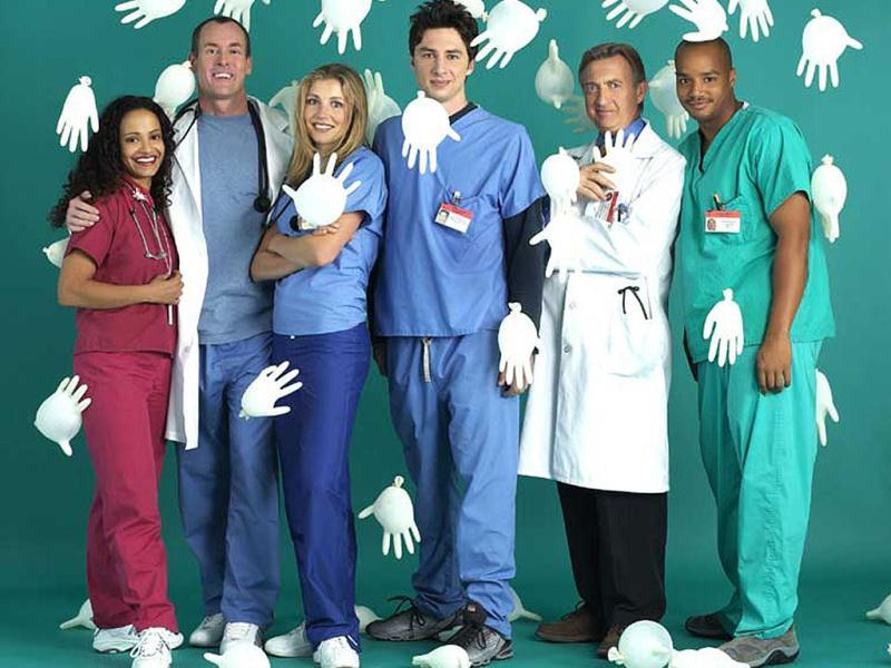 ScrubsAn American medical comedy-drama television series, Scrubs ran from October 2001 to March 2010. The series, which follows the lives of employees at the fictional Sacred Heart teaching hospital, was created by Bill Lawrence. The title is a play on surgical scrubs and a term for a low-ranking person because at the beginning of the series, most of the main characters were medical interns. Music plays a large role in Scrubs, with a wide variety of rock, pop, and indie artists being featured. Almost every episode ends with a musical montage summing up the themes and plot lines of the episode.