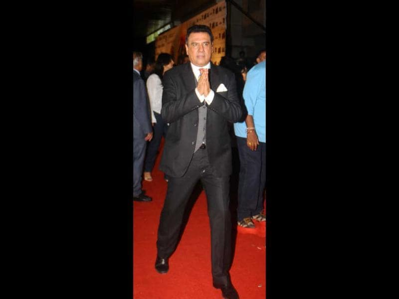 Boman Irani was dressed in a black suit.