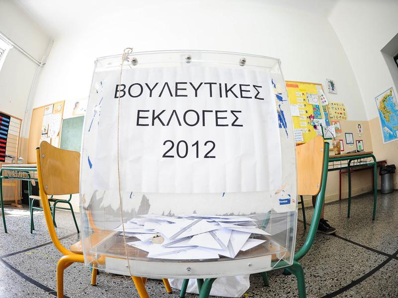 A ballot box is seen inside at a polling station in Athens. Greeks angered by austerity took to the polls on Sunday for an election that could decide their future in the euro amid unprecedented external pressure not to vote for a radical leftist party.  AFP/Andreas Solaro