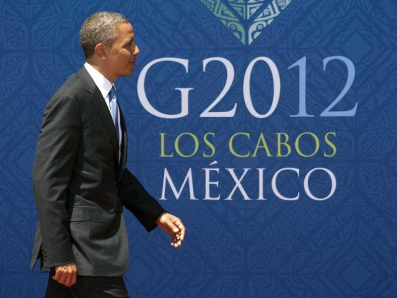 President Barack Obama arrives at the G20 summit in Los Cabos. AP Photo