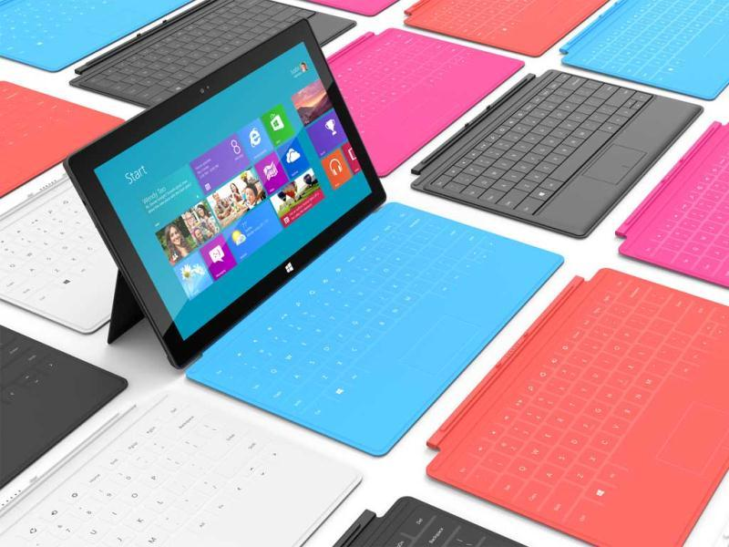 Software giant Microsoft unveiled its first tablet computer, Surface, in a major hardware launch clearly designed to take on long-term rival Apple's market-ruling iPad. Check out the pics of the launch.