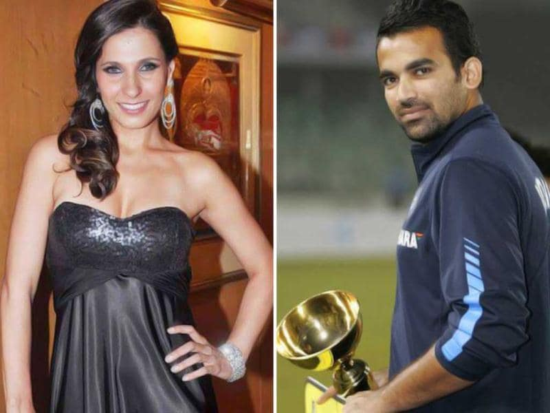 Cricketer Zaheer Khan was seen at a mall in Mumbai with VJ Ramona.