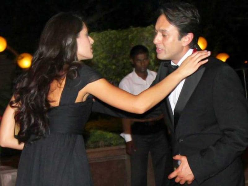 Nargis Fakhri was linked to Ness Wadia after she was spotted kissing him formal goodbye at Karan Johar's birthday bash.