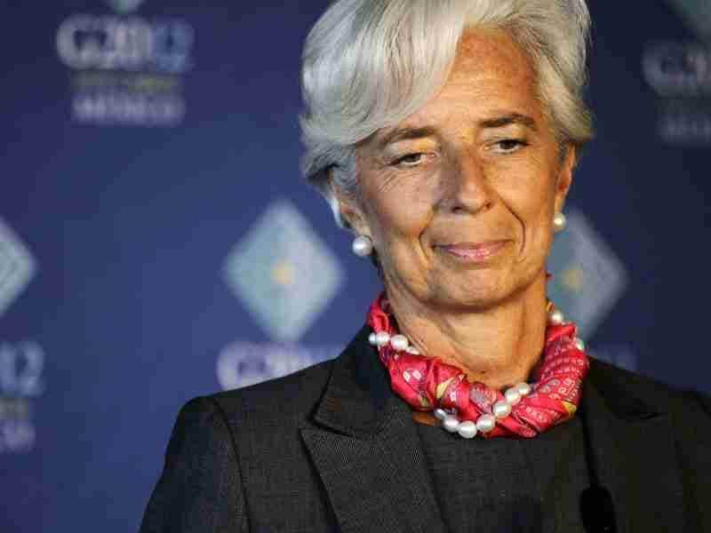 International Monetary Fund (IMF) Managing Director Christine Lagarde speaks during a news conference on the second day of the G20 Summit in Los Cabos. Reuters photo/Henry Romero