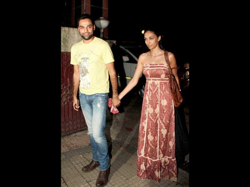 Abhay Deol spotted with his girlfriend Preeti Desai.