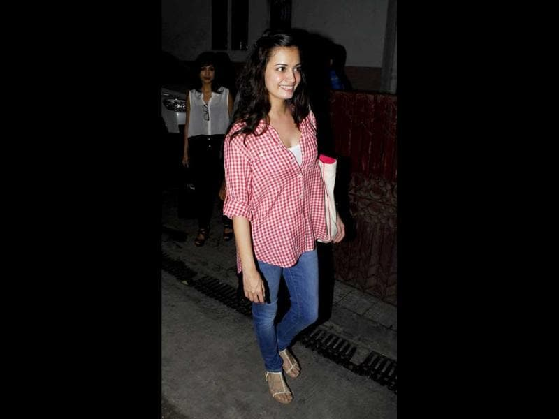 Dia Mirza keeps it simple at the event.