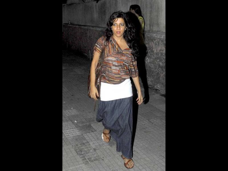 Director Zoya Akhtar in a casual look arrives for the screening.