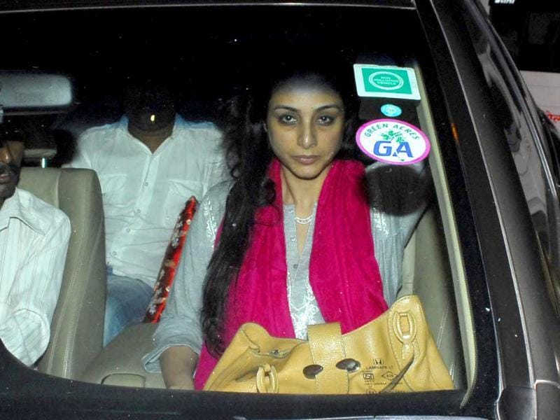 Actress Tabu arrives for the event.