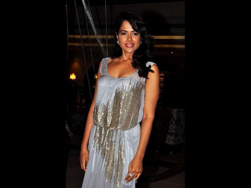 Sameera Reddy attends actress Preity Zinta's launch of her new movie, Ishkq in Paris. (AFP)