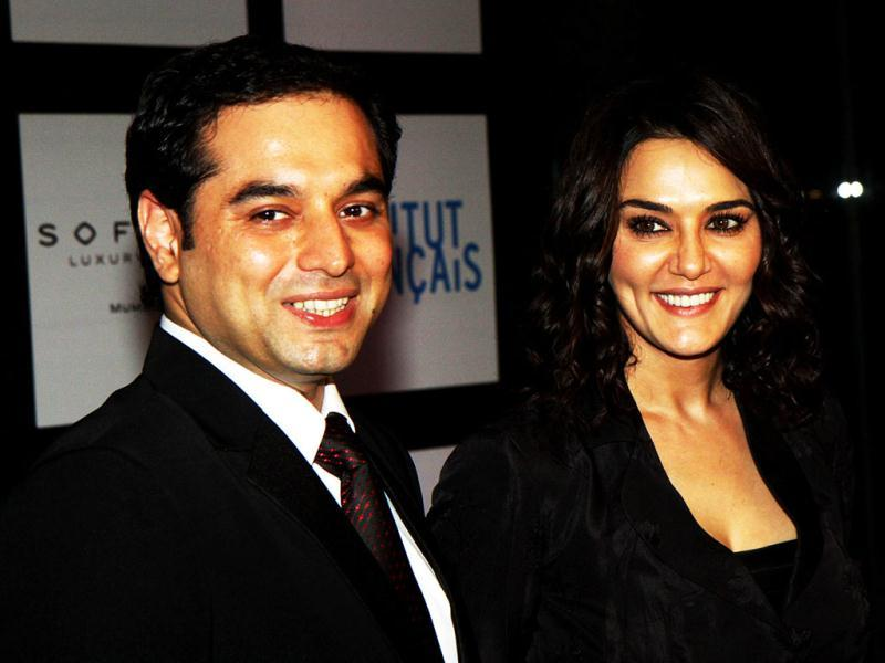 Preity Zinta with her director Prem Soni. (AFP)