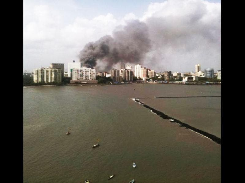 No casualties have been reported in the fire at Mumbai Mantralaya. Twitter/@Nikunj_Vakil