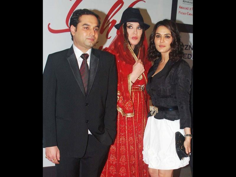 Director Prem Soni with French actress Isabelle Adjani and Preity Zinta. (UNI)