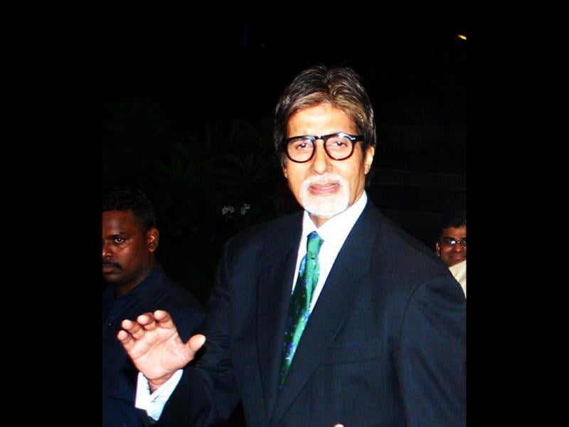 Amitabh Bachchan at the launch of the movie Ishq in Paris produced by actress Preity Zinta. (UNI)