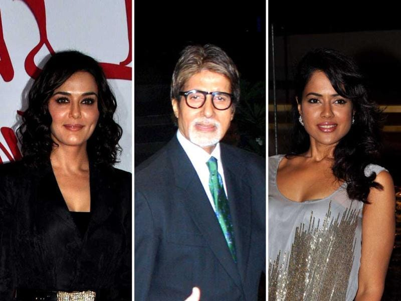 Amitabh Bachchan was among many celebs who graced the launch of Preity Zinta's production Ishkq In Paris.