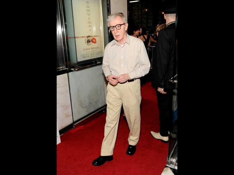 Woody Allen arrives at the red carpet of his film To Rome With Love. (AP)