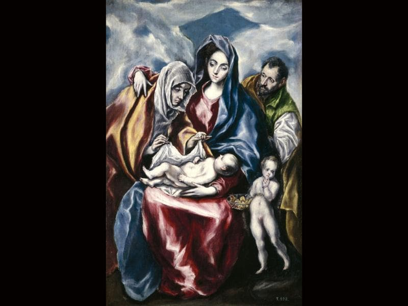 This photo provided by the Detroit Institute of Art shows The Holy Family by El Greco. The DIA is opening a new exhibition featuring not only Melancholy Woman by Pablo Picasso, but also four other works by some of Spain's most important artists. AP/Detroit Institute of Arts