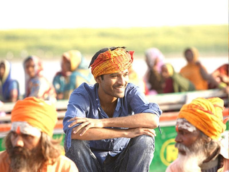 In the film Dhanush plays the character of the Hindi Brahmin.