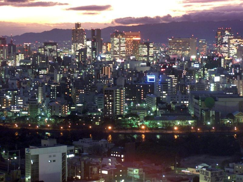 Night view of Osaka City, the capital of Osaka Prefecture and one of the largest cities in Japan. Reuters
