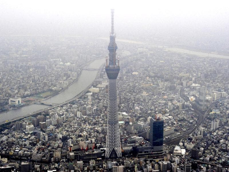 Tokyo Sky Tree, which is under construction, tops the 600-metre (1,969-feet) mark in Tokyo. Already the tallest stand-alone communications tower in the world, Tokyo Sky Tree will stand 634 metres (2,080 feet) high upon completion, Kyodo news reported. Reuters/Kyodo