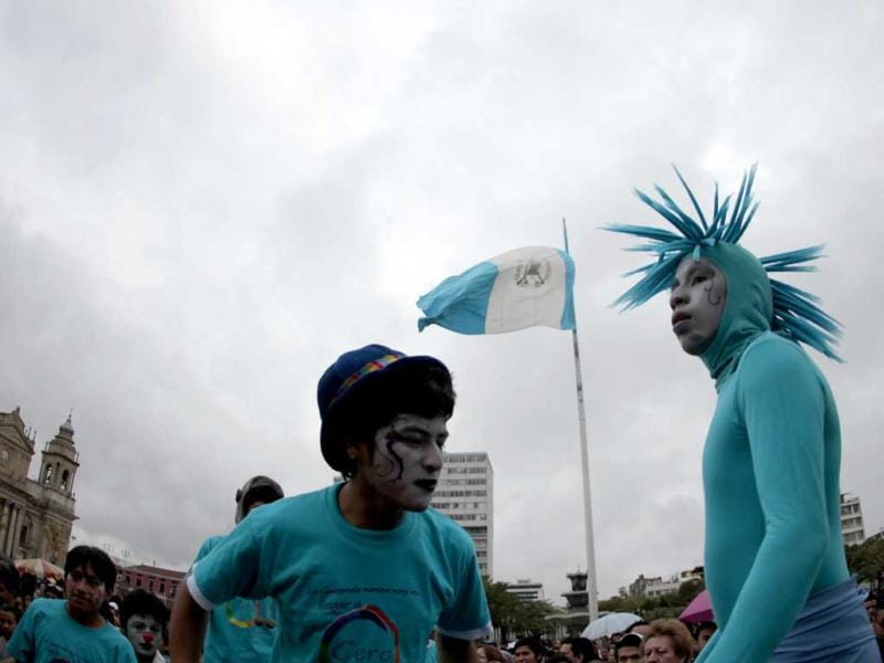 Performers take part in the XII Parade of Sexual Diversity organized by the lesbian, gay, bisexual and transgender (LGBT) community in Guatemala City. Reuters/Jorge Dan Lopez
