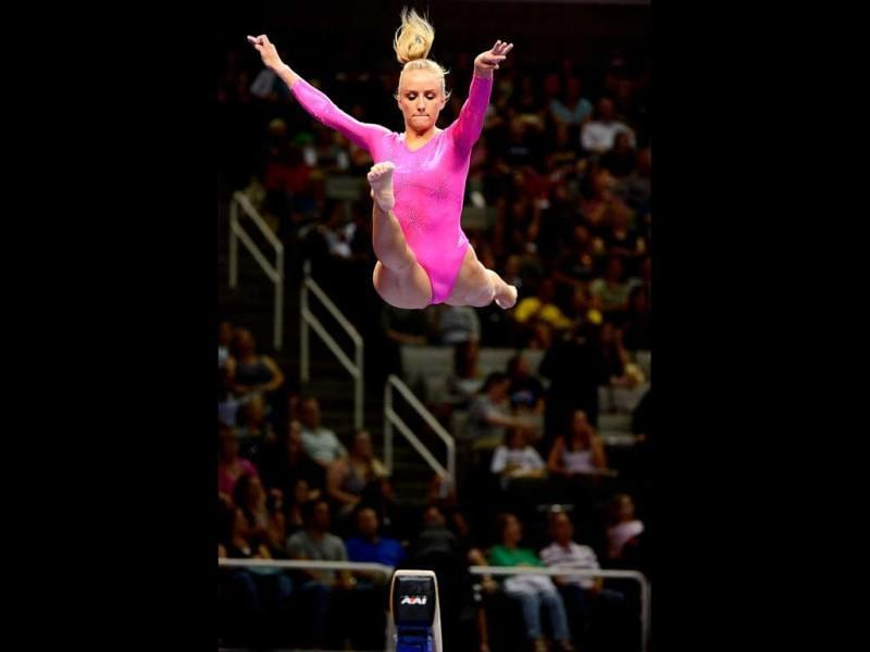 Nastia Liukin competes on the beam during day 2 of the 2012 US Olympic Gymnastics Team Trials at HP Pavilion in San Jose, California. Ronald Martinez