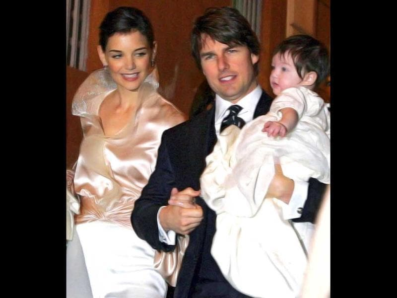 Katie gave birth to their daughter Suri on April 18, 2006.