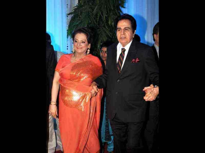 Among the glitterati who attended the reception were veteran actors Dilip Kumar and his wife Saira Banu along with many yesteryear actors.