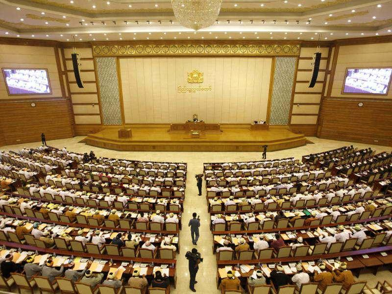 Members of parliament attend the opening of the Lower House session in Naypyitaw. Reuters/Soe Zeya Tun