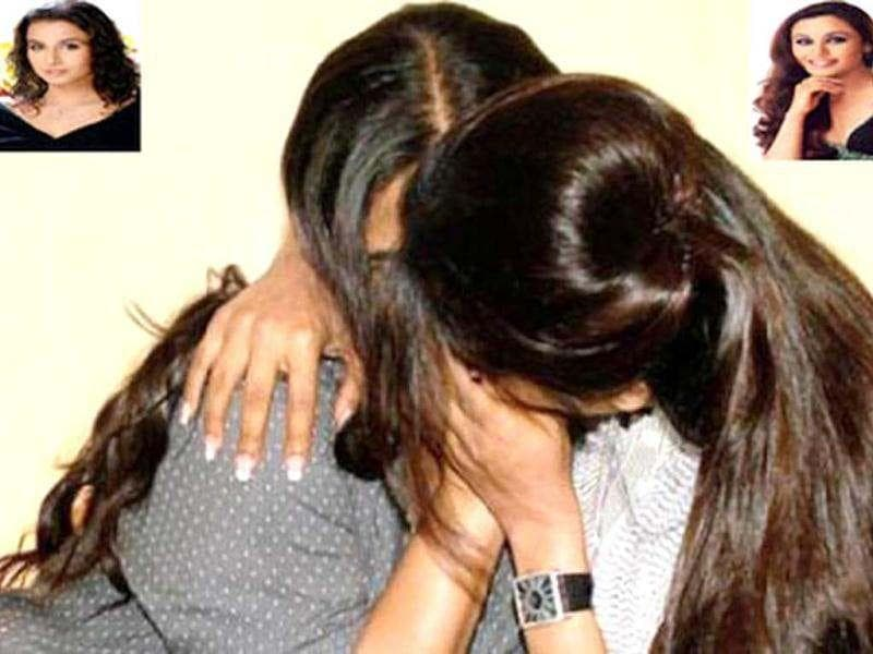 Rani Mukherji and Vidya Balan staged a mock kiss for No One Killed Jessica promotions.