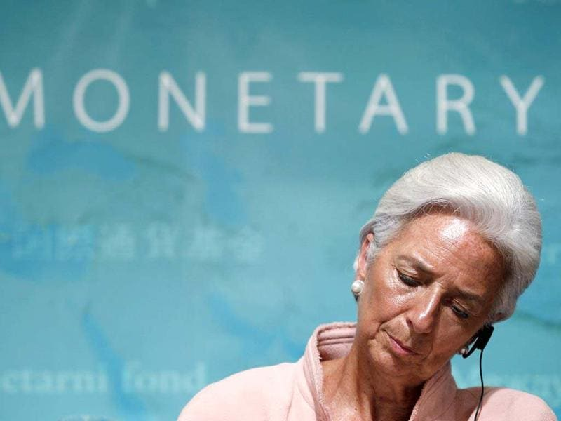 International Monetary Fund (IMF) managing director Christine Lagarde attends a news conference in Tokyo. The head of the IMF expressed concern at a deterioration in the global economy, saying the outlook has become more worrying as developed and big emerging nations show signs of slowing down. REUTERS/Kim Kyung-Hoon