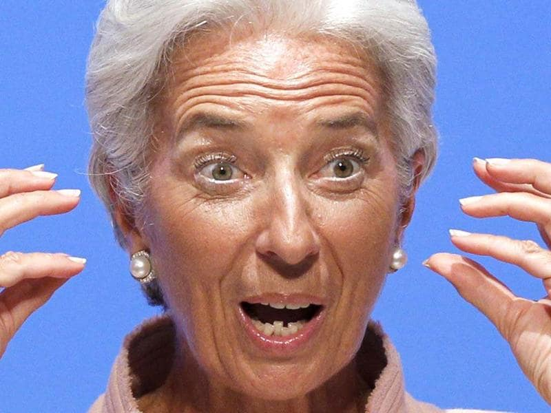 IMF managing director Christine Lagarde delivers a speech at a special forum preceding the 2012 annual meetings of the IMF and World Bank Group in Tokyo. REUTERS/Kim Kyung-Hoon