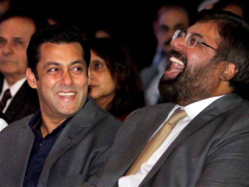 Salman Khan shares a hearty laugh.