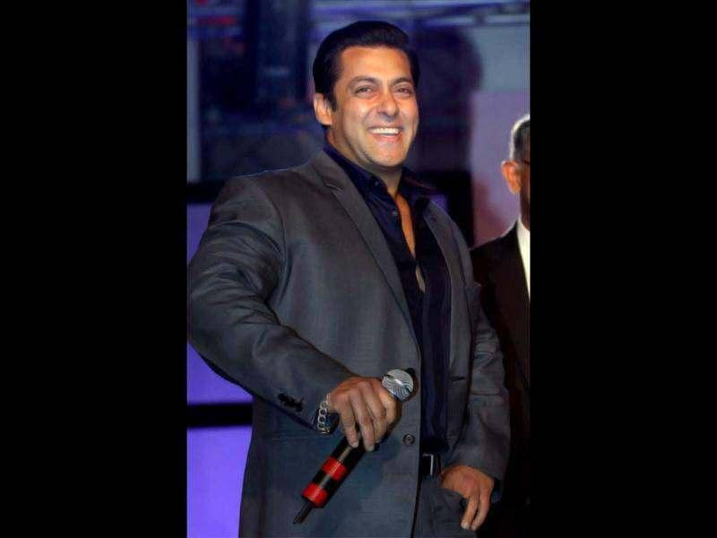 Sallu gets jolly during the event.