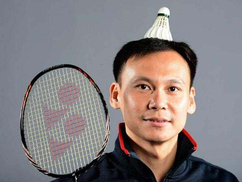 Tony Gunawan of the US Badminton Olympic team poses for pictures during the 2012 Team USA Media Summit in Dallas, Texas. Portraits of the US Olympic team taken by AFP photographer Joe Klamar have been criticised for using awkward poses, wrong lens and lighting. Joe brushed off most of the criticism, saying that his