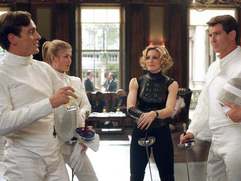 MadonnaEven the Queen of Pop Madonna (second right) has appeared in a Bond movie, portraying fencing instructor Verity in Die Another Day.