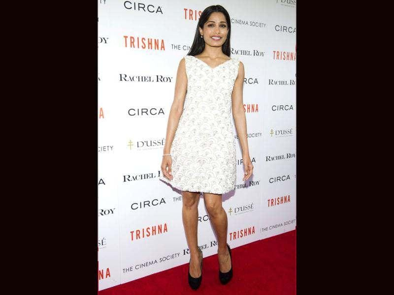 Freida Pinto attended the screening of her latest film Trishna recently. Here're some snapshots from the event.