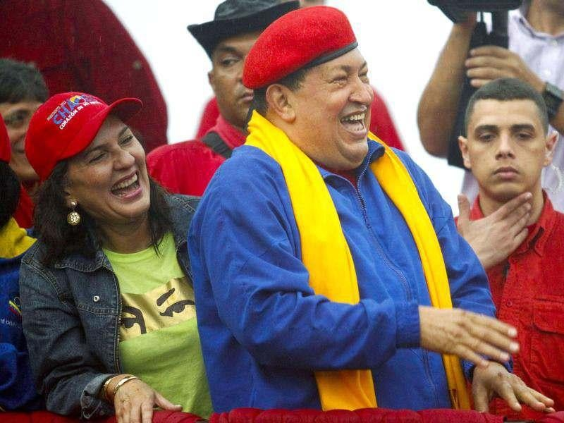 Venezuela's President Hugo Chavez smiles during an election rally in Barcelona in the state of Anzoategui. Reuters/Carlos Garcia Rawlins