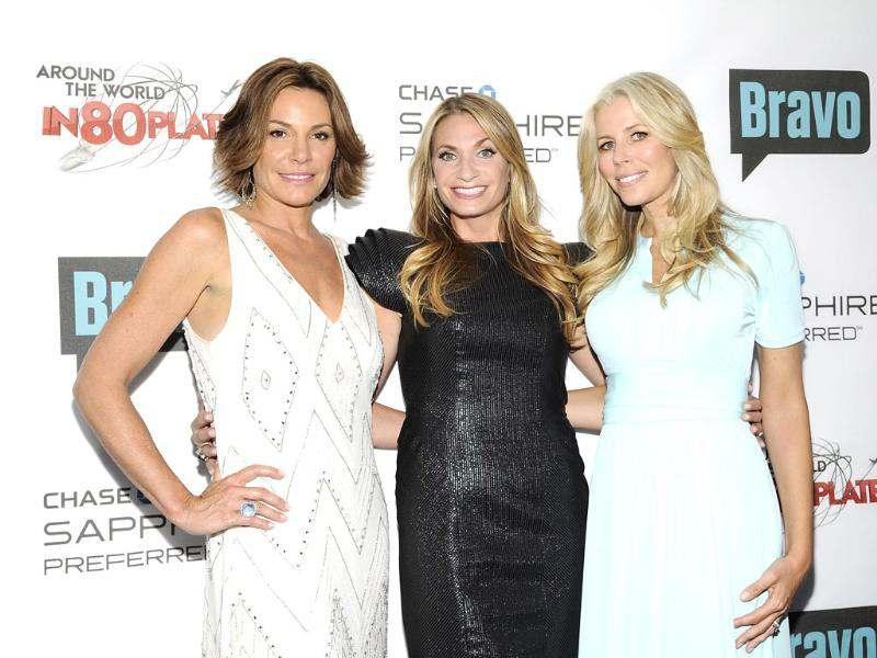 Television personalities LuAnn de Lesseps, Heather Thomson and Aviva Drescher attend the