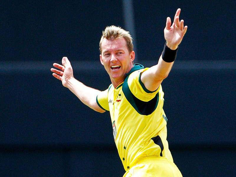 In this March 23, 2012 file photo, Australia's fast bowler Brett Lee celebrates after taking the wicket of West Indies' batsman Marlon Samuels, who was caught behind for 11 runs, during their fourth one-day international cricket match in Gros Islet, St. Lucia. (AP Photo/Andres Leighton, File)