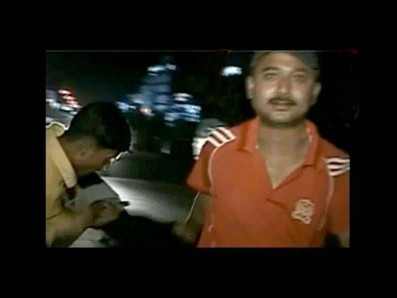 This video grab shows a man involved in the Guwahati molestation case.