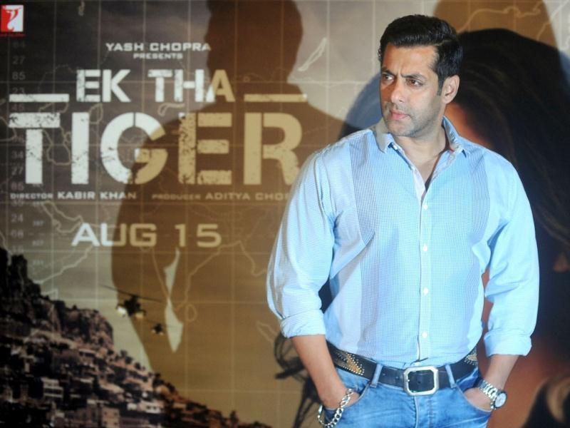 Salman 'Tiger' Khan at the launch of Ek Tha Tiger's song. Watch the song here