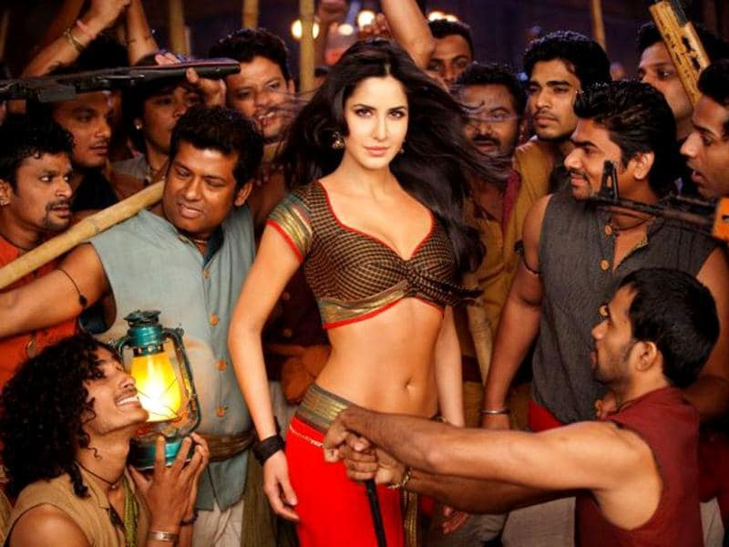 SEXY: Katrina displays a gamut of expressions in Chikni Chameli from Agneepath.