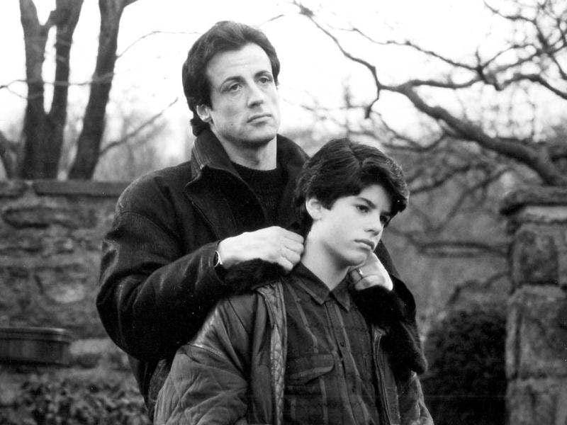 Actor Sylvester Stallone portrays Rocky Balboa in a scene with his real life son, Sage Stallone, who portrays Rocky Balboa Jr., in the 1990 film Rocky V in this undated publicity photograph released to Reuters. Aspiring actor and filmmaker Sage Stallone, 36, was found dead on July 13, 2012 at his home in Hollywood, authorities and his attorney said. REUTERS/Courtesy MGM/UA/Handout