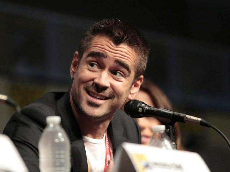 Cast member Colin Farrell speaks during a panel for Total Recall during Comic Con International convention in San Diego, California July 13, 2012. (Reuters)