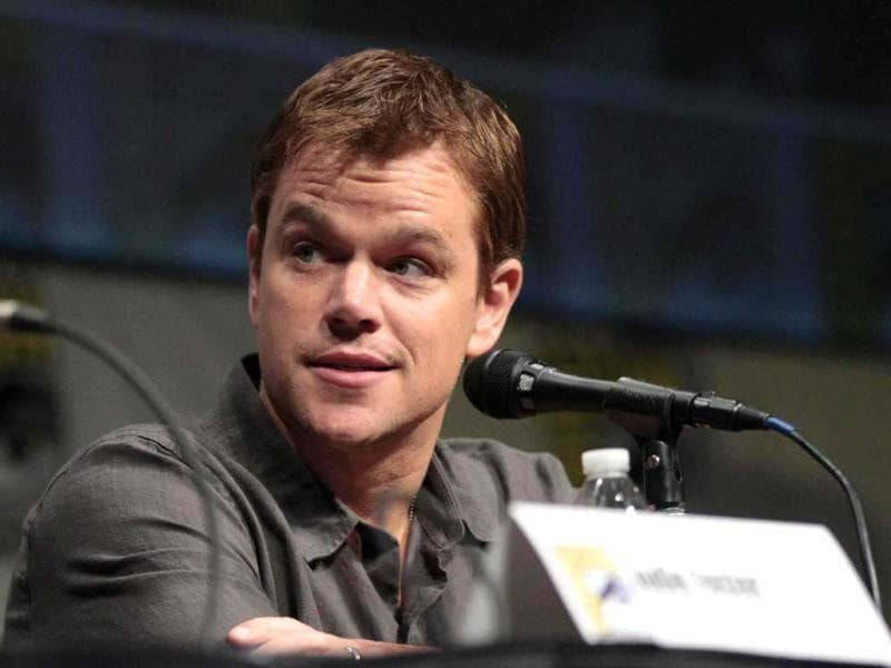 Cast member Matt Damon attends a panel for Elysium during Comic Con International convention in San Diego, California July 13, 2012. (Reuters)