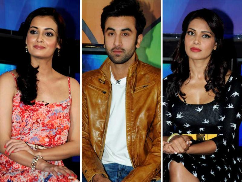 Bollywood celebrities like Ranbir Kapoor, Bipasha Basu, Dia Mirza and others support sports campaign called Marks For Sports created by the Fit India Movement in Mumbai on July 13.