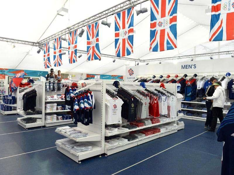 London Olympic products and memorabilia are displayed at the largest pop-up store in Hyde Park. AFP/Miguel Medina